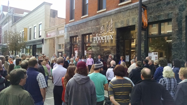 Phoenix Books Rutland opening; photo courtesy Same Sun of Vermont